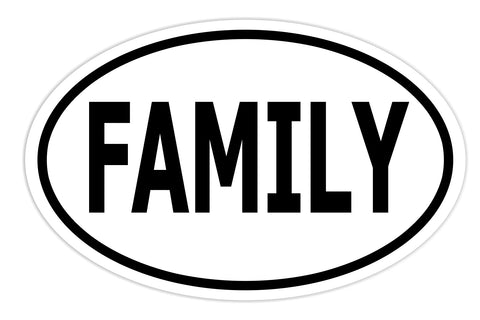 Family Sticker Decal - Love Family Bumper Sticker - The FinderThings