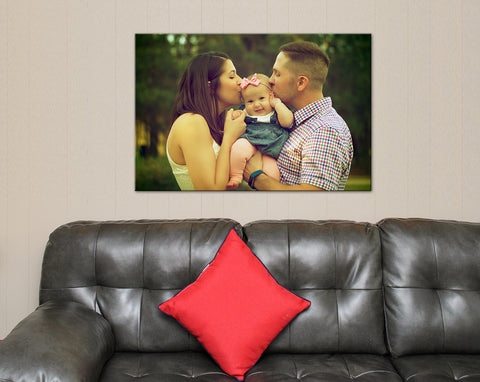Custom Family Photo Finish Canvas Print - Free Shipping -