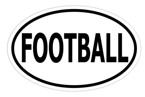 Football Sticker Decal - Football Player and Fan Bumper Sticker - The FinderThings