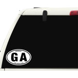State of Georgia Sticker Decal - The Peach State Bumper Sticker