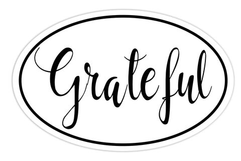 Grateful Sticker Decal - Grateful Joy Bumper Sticker - The FinderThings