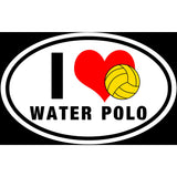 I Love Waterpolo H20 Polo Sticker Decal and Bumper Sticker - The FinderThings