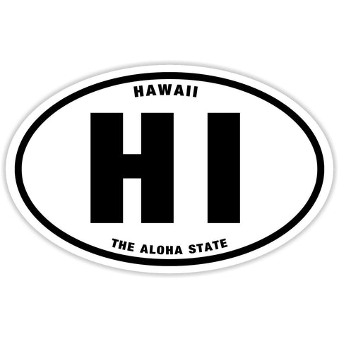 State of Hawaii Sticker Decal - The Aloha State Bumper Sticker