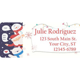 Christmas Holidays Santa Claus Frosty Snowman Personalized Return Address Labels - The FinderThings