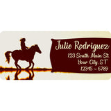 Horse Rider Personalized Return Address Labels Cowboy and Cowgirl Western Sunset - The FinderThings