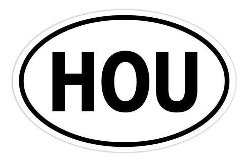 Houston Sticker Decal - Houston Texas HOU Bumper Sticker - The FinderThings