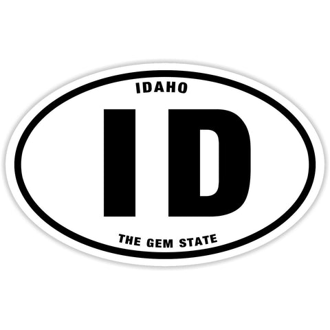 State of Idaho Sticker Decal - The Gem State Bumper Sticker