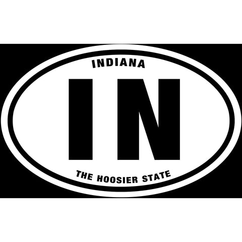 State of Indiana Sticker Decal - The Hoosier State Bumper Sticker