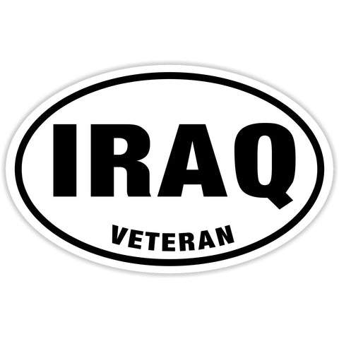 Iraq Veteran Sticker Decal - American Hero Bumper Sticker - The FinderThings
