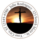 Christian Jesus Crucifix God Religious Personalized Return Address Labels - The FinderThings