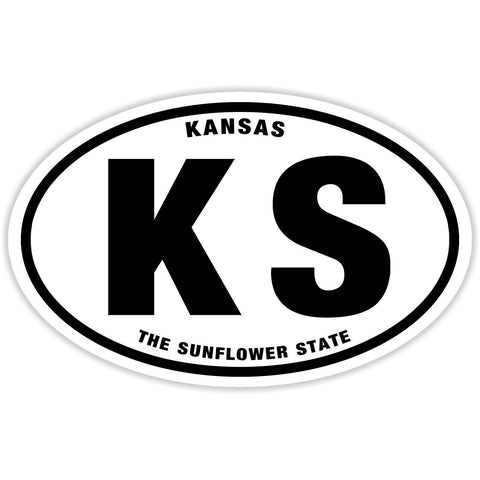 State of Kansas Sticker Decal - The Sunflower State Bumper Sticker - The FinderThings