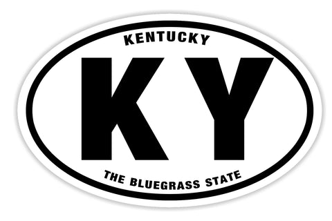 State of Kentucky Sticker Decal - The Bluegrass State Bumper Sticker