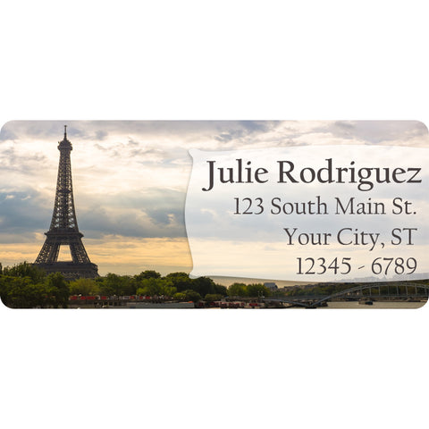 Eiffel Tower and Paris Personalized Return Address Labels - The FinderThings