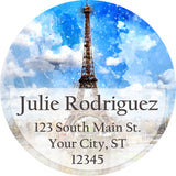 Eiffel Tower and Paris Watercolor Personalized Return Address Labels - The FinderThings