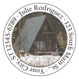 A-Frame Cabin Personalized Return Address Labels in the Mountains - The FinderThings