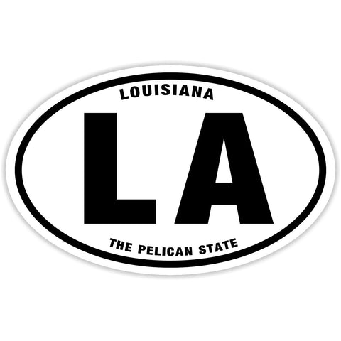 State of Louisiana Sticker Decal - The Pelican State Bumper Sticker - The FinderThings