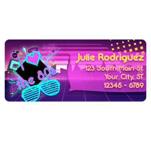 I Love the 80s Personalized Return Address Labels with Retro 1980 Design - The FinderThings