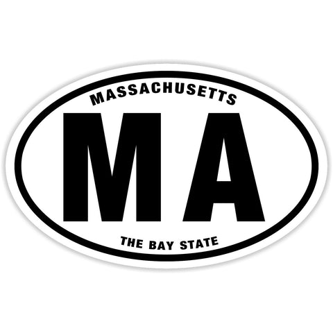 State of Massachusetts Sticker Decal - The Bay State Bumper Sticker - The FinderThings