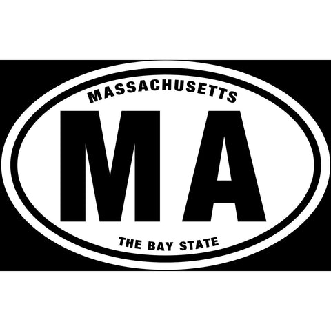 State of Massachusetts Sticker Decal - The Bay State Bumper Sticker