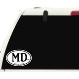 Medical Doctor MD Sticker Decal - Medical Care Dr. Bumper Sticker - The FinderThings