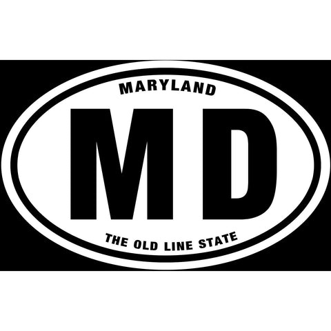 State of Maryland Sticker Decal - The Old Line State Bumper Sticker