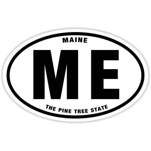State of Maine Sticker Decal - The Pine Tree State Bumper Sticker