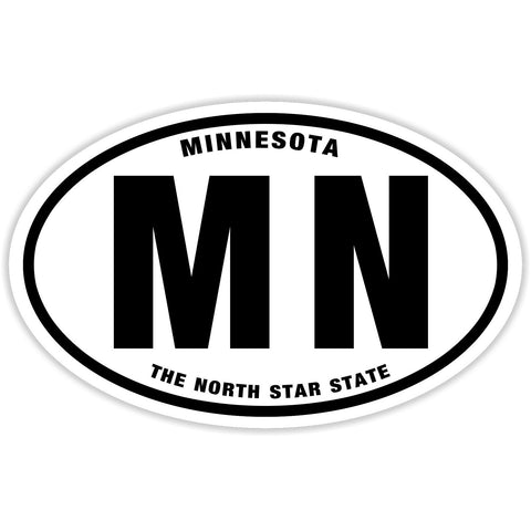 State of Minnesota Sticker Decal - The North Star State Bumper Sticker