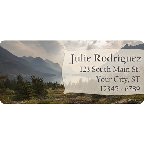 Mountain Lake Personalized Return Address Labels Country Trees and Forest - The FinderThings