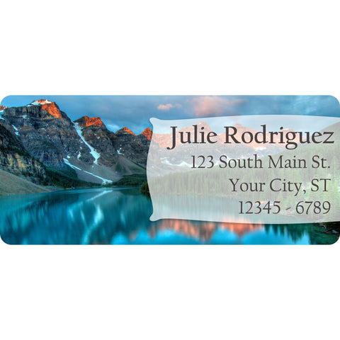 Mountain Lake Personalized Return Address Labels Snow and the River - The FinderThings