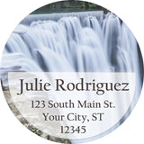 Waterfall Personalized Return Address Labels River Waterfall in Nature - The FinderThings