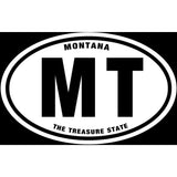 State of Montana Sticker Decal - The Treasure State Bumper Sticker - The FinderThings