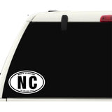 State of North Carolina Sticker Decal - The Tar Heel State Bumper Sticker