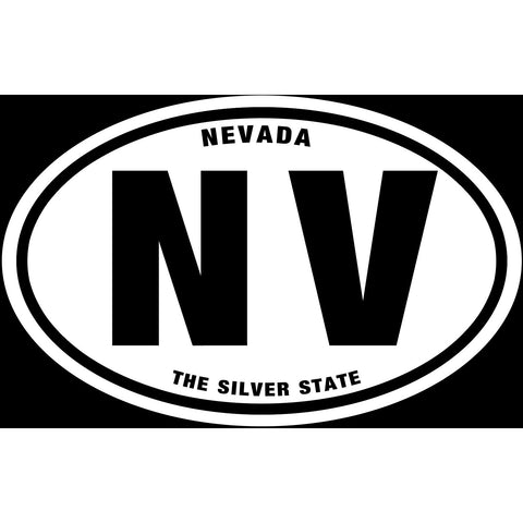 State of Nevada Sticker Decal - The Silver State Bumper Sticker