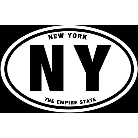 State of New York Sticker Decal - The Empire State Bumper Sticker