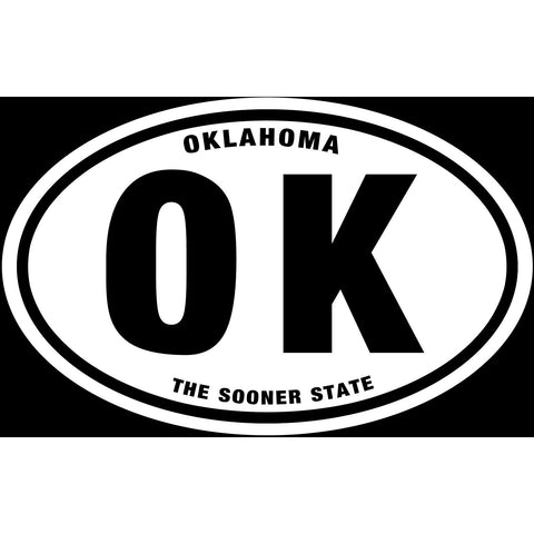 State of Oklahoma Sticker Decal - The Sooner State Bumper Sticker