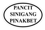 Pancit Sinigang Pinakbet Sticker Decal Oval Shape - Foodie and Food Lovers - The FinderThings
