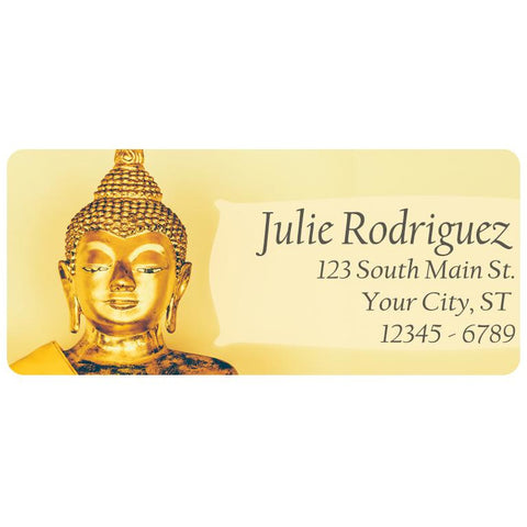 Buddhist Gold Statue Buddha Hindu Religion Personalized Return Address Labels
