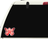 Aids Awareness Red Ribbon Butterfly Car Bumper Sticker - The FinderThings