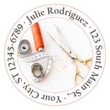 Sewing Seamstress Personalized Return Address Labels Scissors Thread Needles - The FinderThings