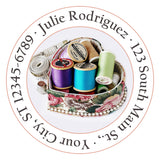 Sewing Heart Personalized Return Address Labels Seamstress Thread and Hearts - The FinderThings