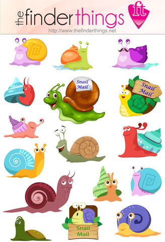 Small Snail Mail Stickers 2 sheets! Scrapbooking Stickers Mail Letter Writing - The FinderThings