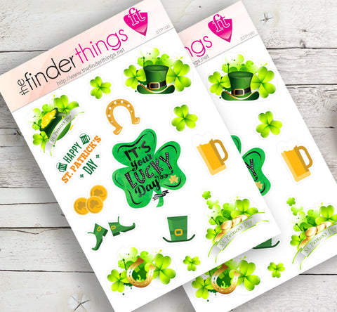 St. Patrick's Day Stickers for Scrapbook, Planner, Diary, and Fun - The FinderThings