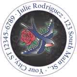 Tattoo Swallow Bird Flying Personalized Return Address Labels - The FinderThings