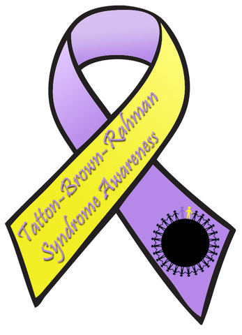 Tatton Brown Rahman Syndrome - Car Sticker Decal TBRS Ribbon - TBRS Awareness