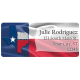Texas Lone Star State Flag Texan Proud Personalized Return Address Labels - The FinderThings