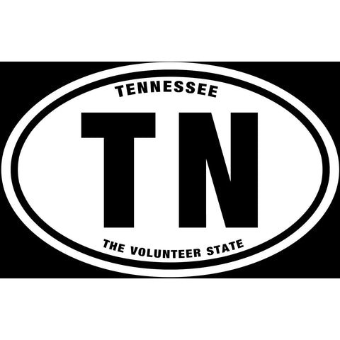State of Tennessee Sticker Decal - The Volunteer State Bumper Sticker