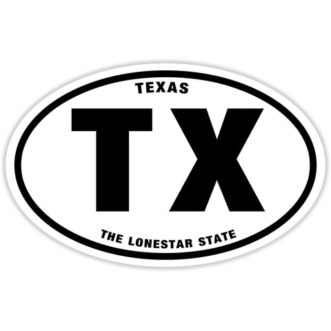 State of Texas Sticker Decal - The Lonestar State Bumper Sticker - The FinderThings