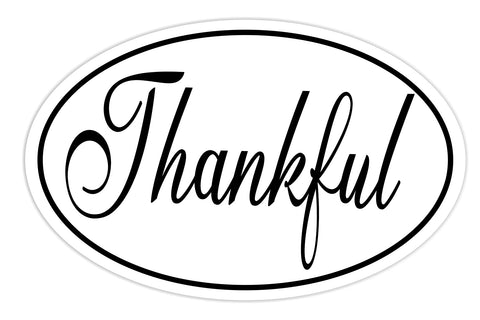 Thankful Sticker Decal - Thanks Thankful Bumper Sticker - The FinderThings