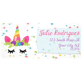 Unicorn Face Flowered Crown Unicorn Mom Personalized Return Address Labels - The FinderThings