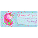 Unicorn Face Stars Crown Unicorn Mom Personalized Return Address Labels - The FinderThings